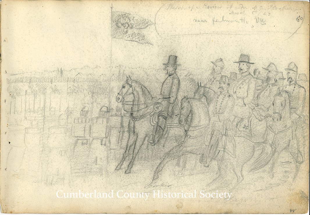 Sketch of a Review of under Gen. Hooker – March 5, 1863 near Falmouth Image