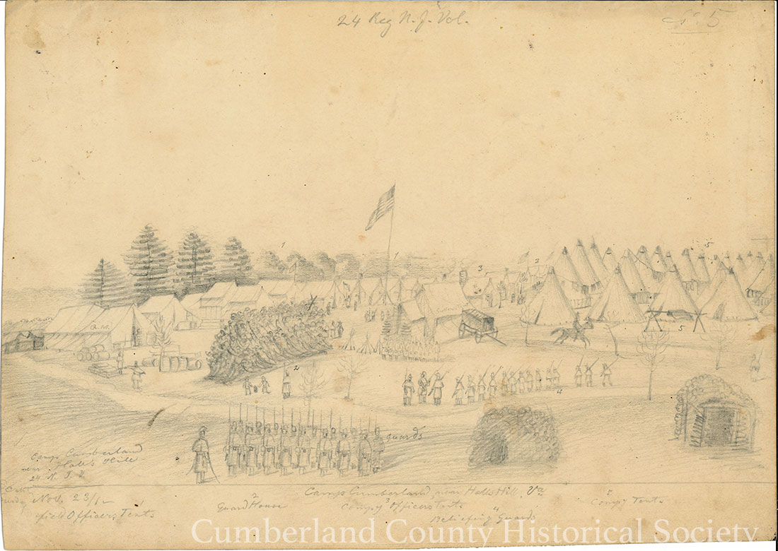 Camp Cumberland November 23, 1862 Image