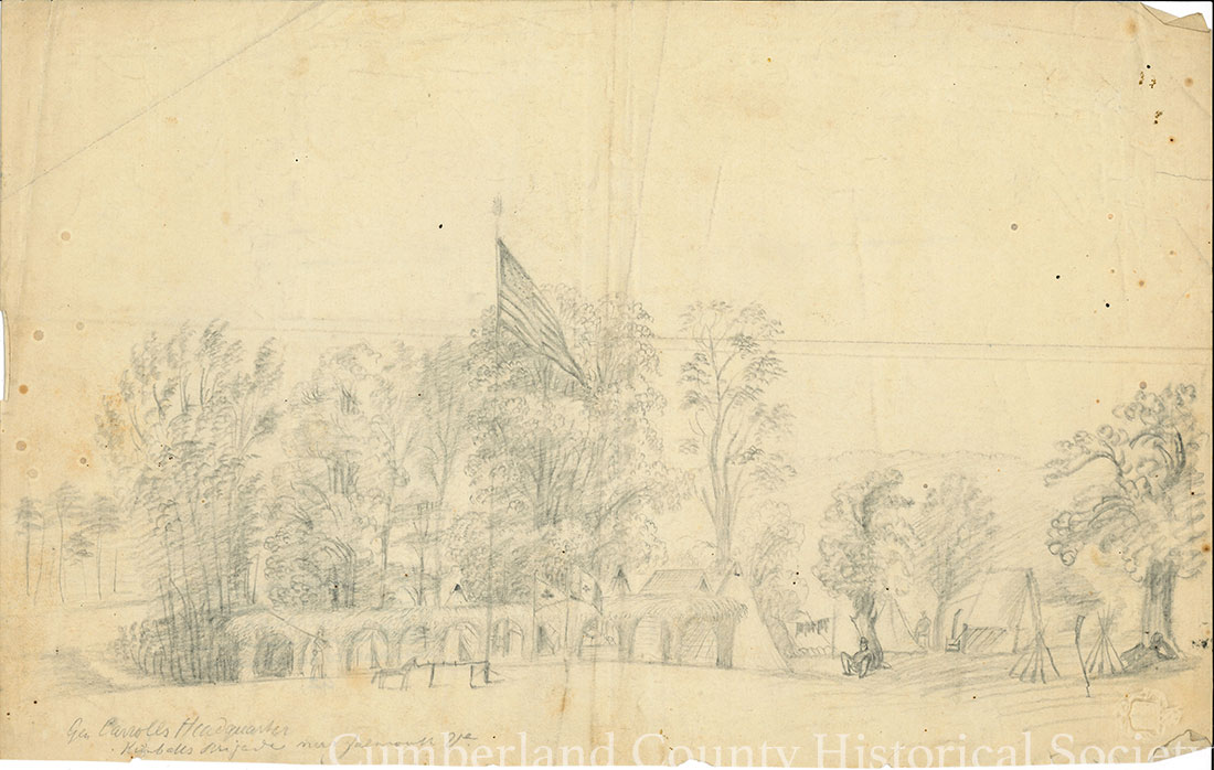 Gen. Caroll's Headquarters – Kimball's Brigade Near Falmouth – Post Fredericksburg Image