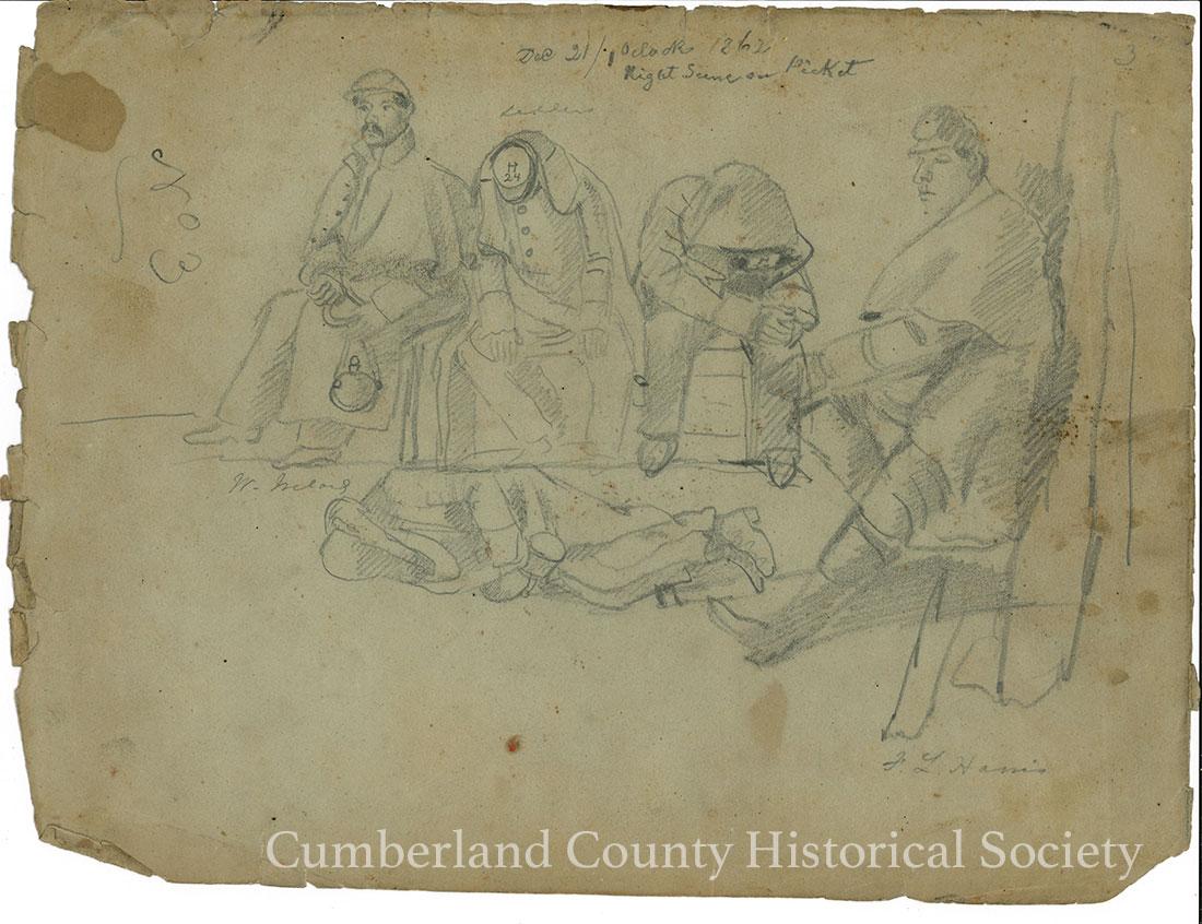 Night Scene Picket December 21, 1862 Image