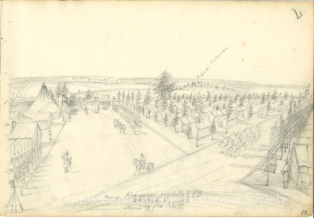 Camp Robertson near Falmouth VA, 24 N.J.V. March 19, 1863 (4 weeks today) Image