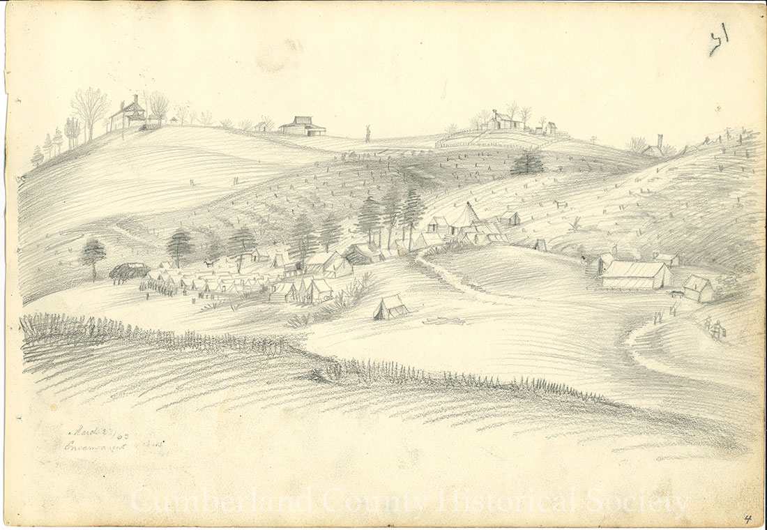 Encampment March 23, 1863 (Fredericksburg) Image