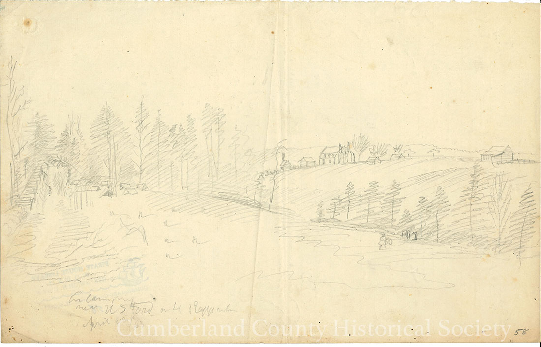 Encampment Near US Ford on the Rappahannock April 28, 1863 Image