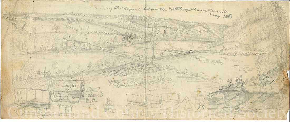 Rappahannock US Ford Before Battle May 1863 Image