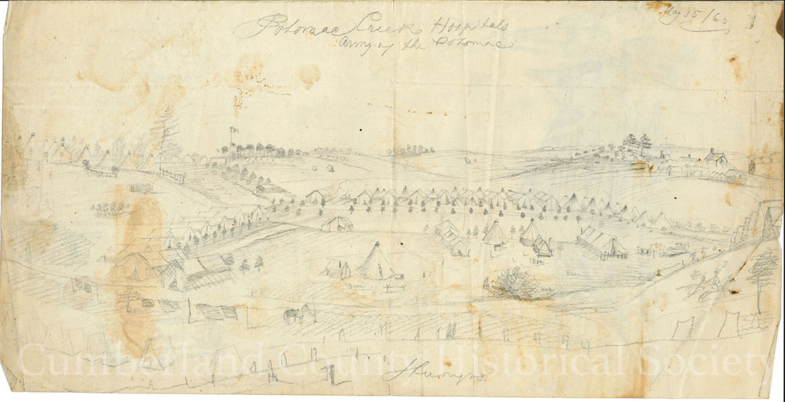 Potomac Creek Hospital, Army of the Potomac May 15, 1863 Image