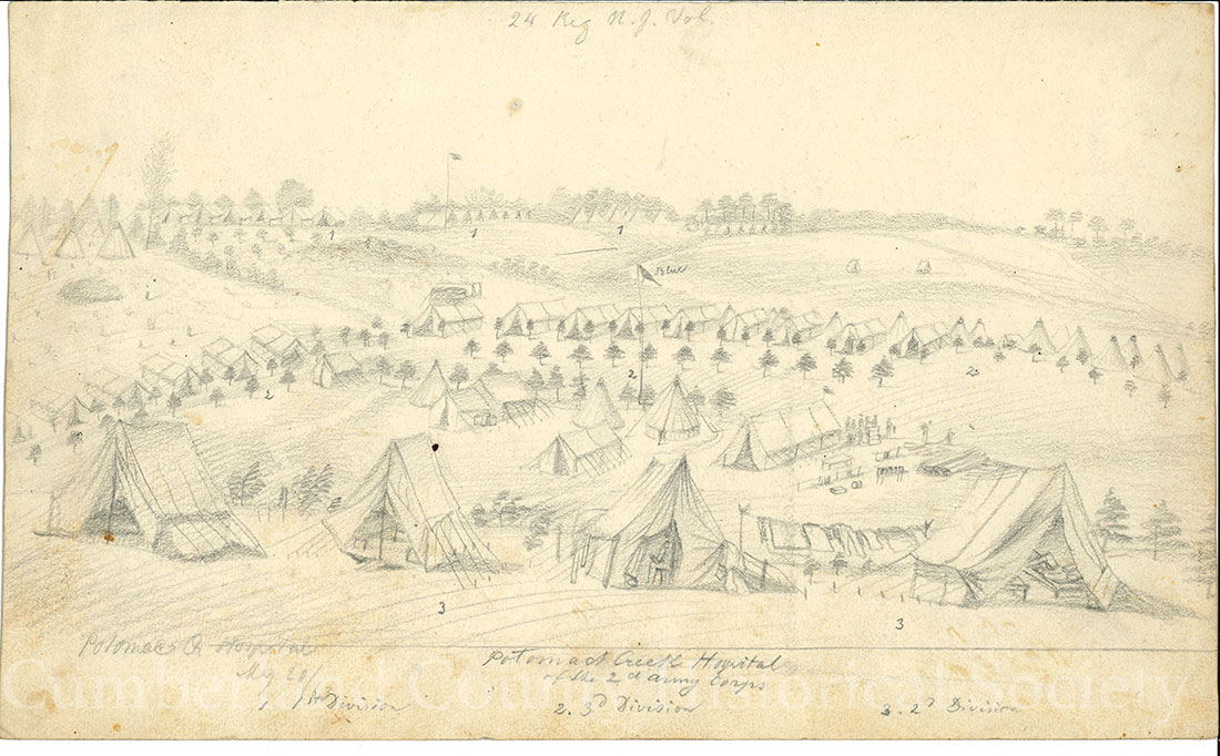 Potomac Creek Hospital May 20, 1863 Image