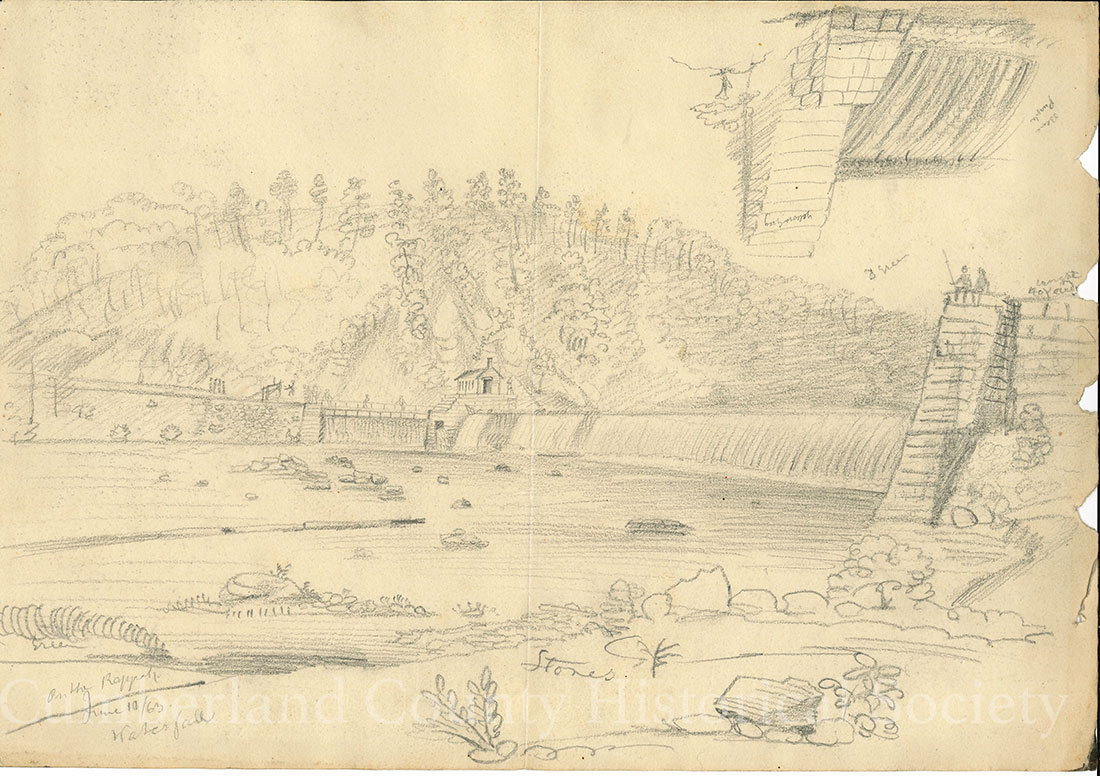 Rappahannock Water Fall June 10, 1863 Image
