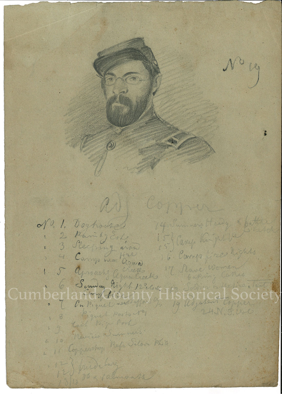 Adjutant Copper with Listings under the sketch Image